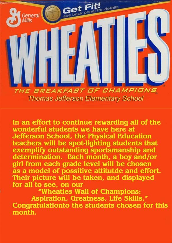 Wheaties Wall of Champions