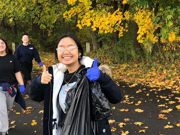 NJROTC Cadets Clean Up Proctor Park