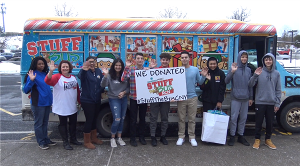 Proctor Participates in Stuff the Bus CNY