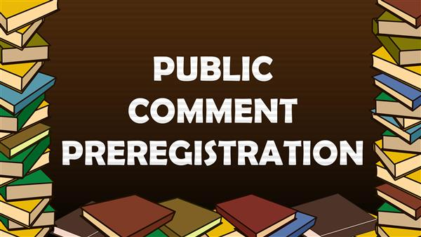 Public Comment to the Board of Education Preregistration